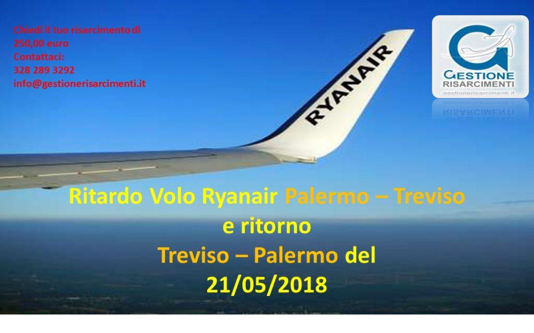 Ritardo volo andata e ritorno Palermo – Treviso