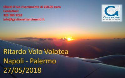 Domenica 27 Maggio 2018. Ritardo volo Napoli – Palermo