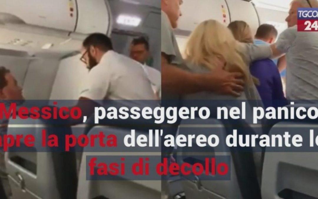 Messico, passeggero nel panico apre la porta dell'aereo durante le fasi di decollo